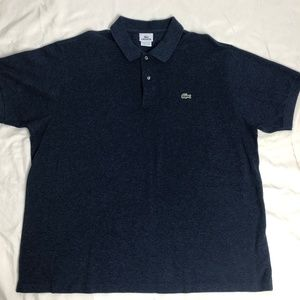 LACOSTE Blue Short Sleeve Polo Size 8 (XXL)